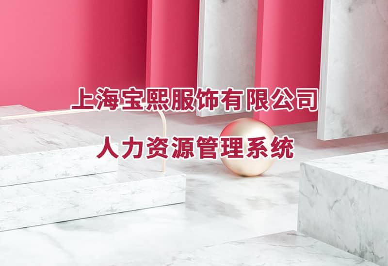 上海宝熙服饰人力资源管理系统
